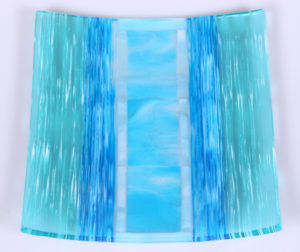 """On edge"" showpiece plate reminds you of the most beautiful ocean views. Item number 135: 10"" by 9"". Price: $200"